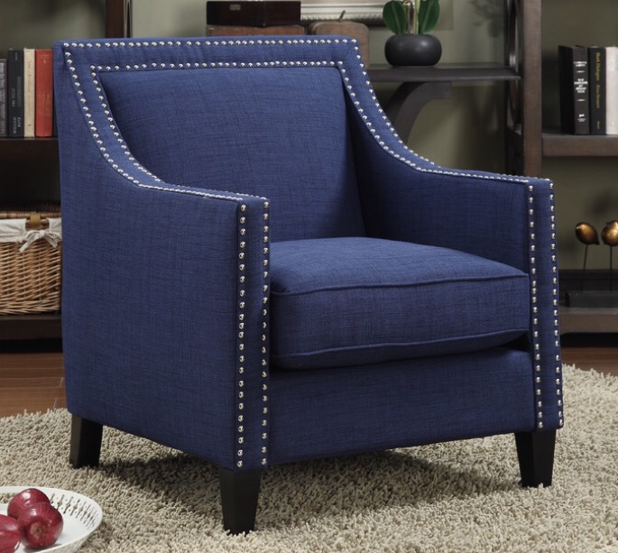 In The End, The Threshold Barrel Chair From Target Won Out For A Few  Reasons. First, This Was My Favorite Shade Of Navy And The Fabric Looked  Perfect.