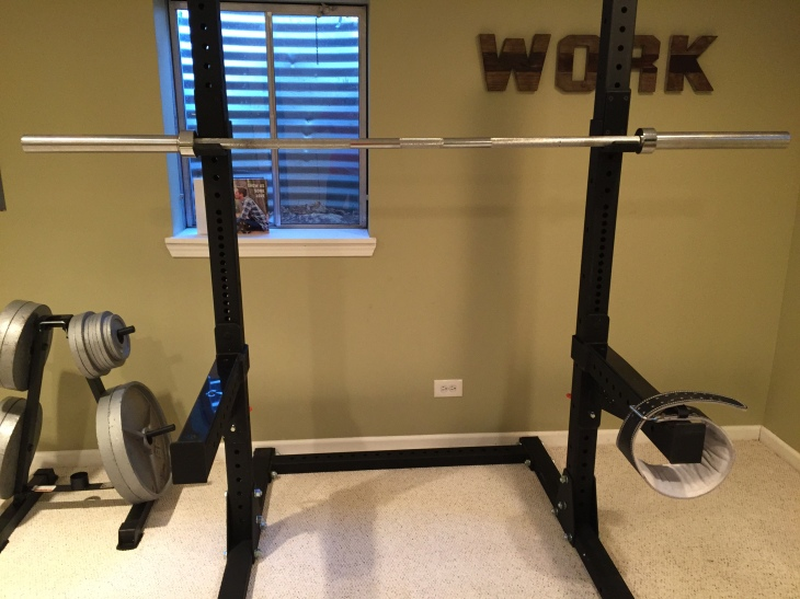 basement gym racks